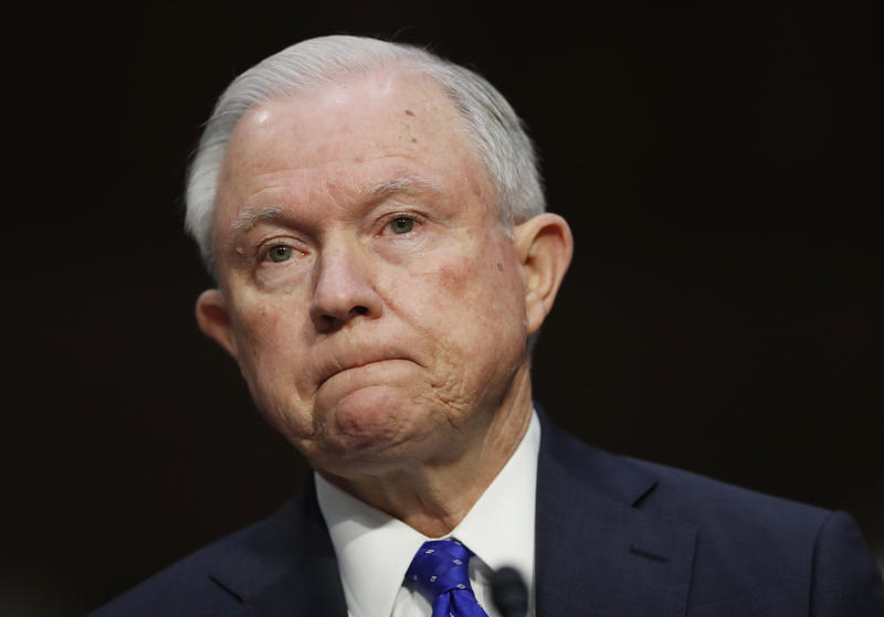 Attorney General Jeff Sessions pauses as he testifies before the Senate Judiciary Committee on Capitol Hill in Washington, Wednesday, Oct. 18, 2017.