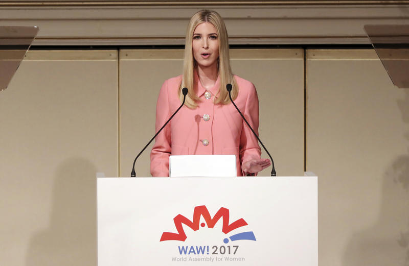 Ivanka Trump, the daughter and advisor to U.S. President Donald Trump, delivers a speech at World Assembly for Women: WAW! 2017 conference in Tokyo Friday, Nov. 3, 2017.