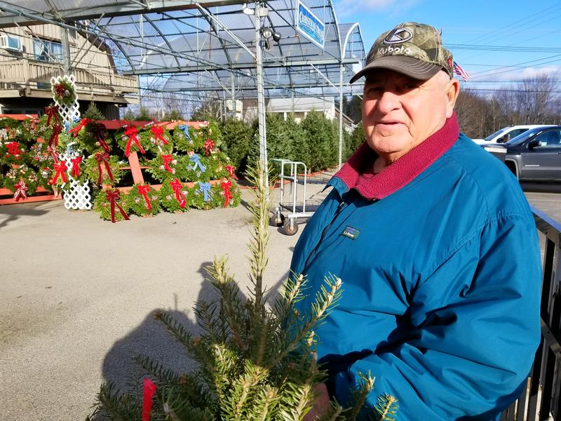 Dana Graves, co-owner of G&S Christmas Tree Farm, supplies Sprague's Nursery in Bangor with a range of tree sizes, but he says it's rare these days for people ask for a tree that reaches the ceiling.