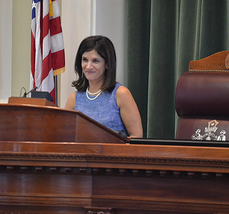 Maine House Speaker Sara Gideon, on her nomination for the post, Nov. 18, 2016.