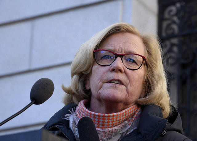 Chellie Pingree in Portland in January.