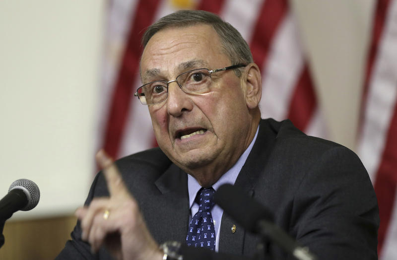 Maine Gov. Paul LePage speaks at a town hall meeting, Wednesday, March 8, 2017, in Yarmouth, Maine.