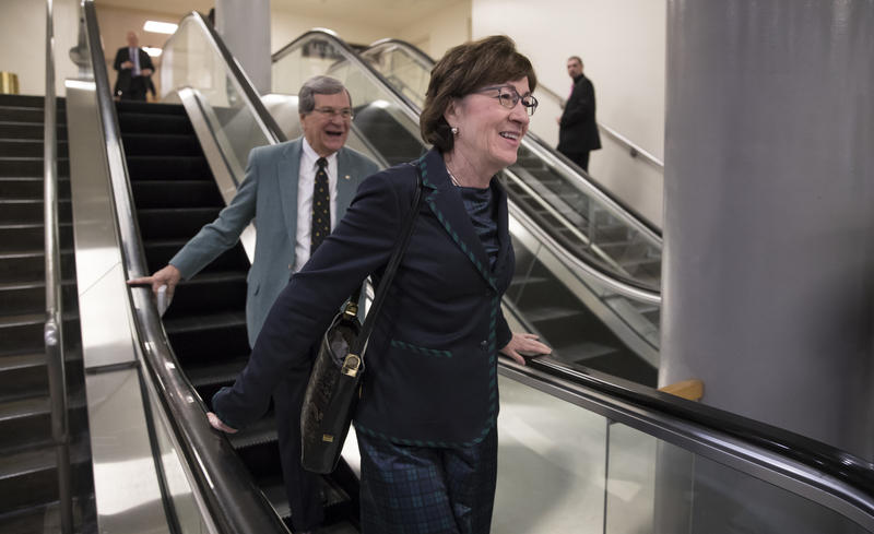 Sen. Susan Collins in Washington, Thursday, Dec. 14, 2017.
