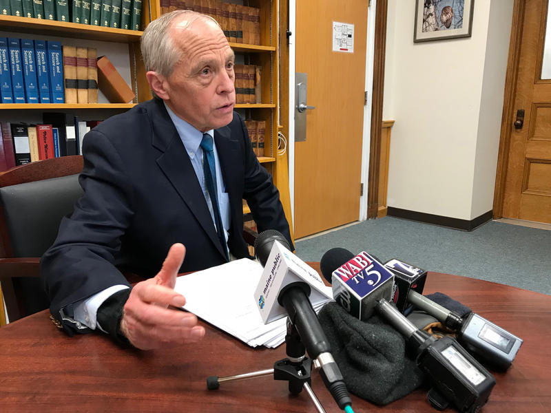 District Attorney R. Christopher Ally tells reporters that the four protestors arrested Monday night at Sen. Susan Collins office will not face prosecution as the result of an agreement among all involved parties.