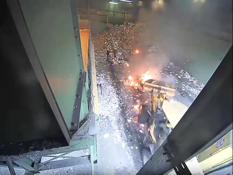 In December 2017, ecomaine employees acted swiftly to extinguish a fire that rapidly expanded at its Recycling Facility.