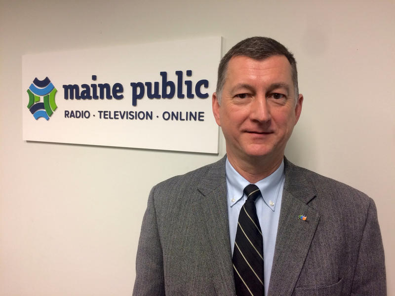 Central Maine Power Company's new CEO Doug Herling, at Maine Public's Portland studios Wednesday.
