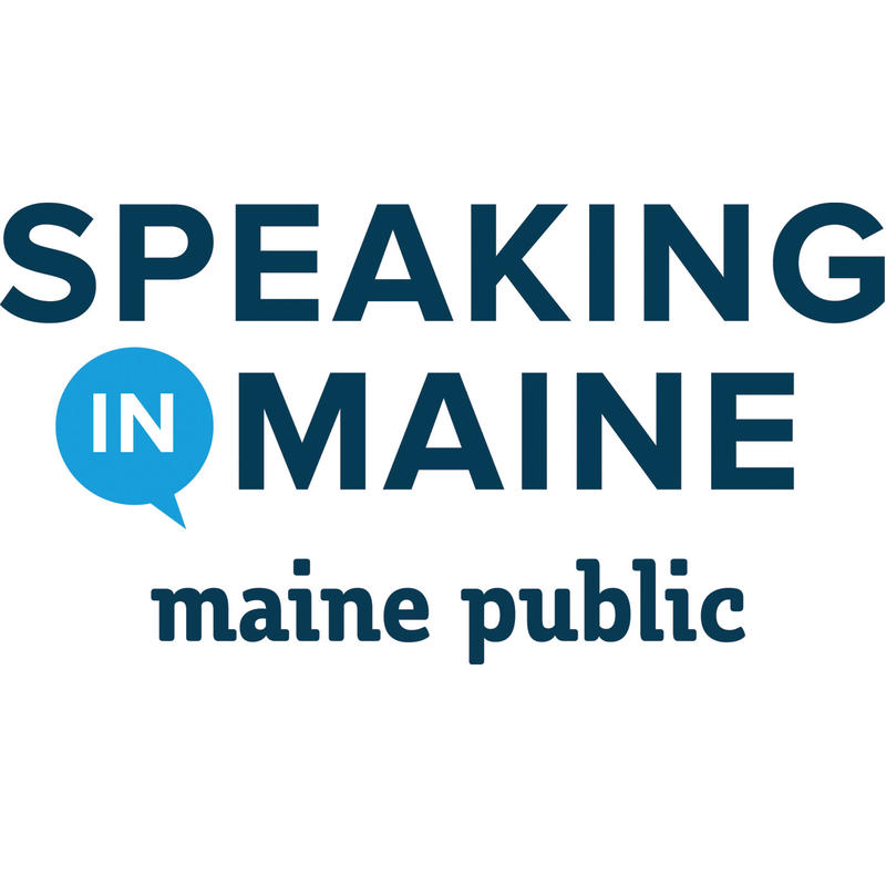 Speaking in Maine logo