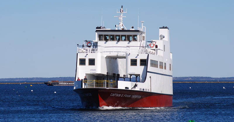 The Captain E. Frank Thompson ferries passengers in Maine's midcoast area.