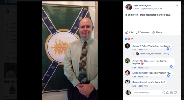 Jackman Town Manager Tom Kawczynski in a photo posted on his Facebook page.