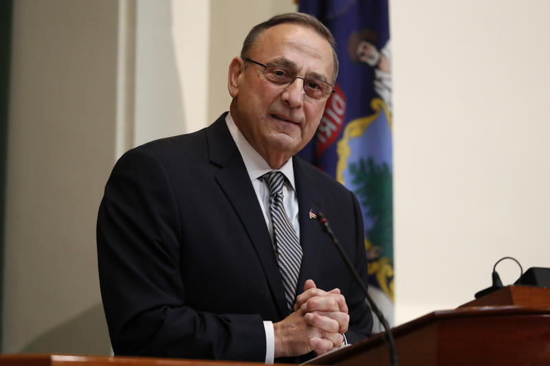 Gov. Paul LePage delivers the State of the State address to the Legislature, Tuesday, Feb. 13, 2018, at the State House in Augusta.