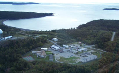 An aerial view of the Downeast Correctional Facility in Machiasport.