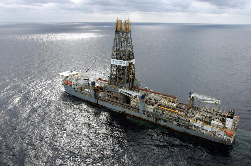 A drillship off the coast of Louisiana in 2006