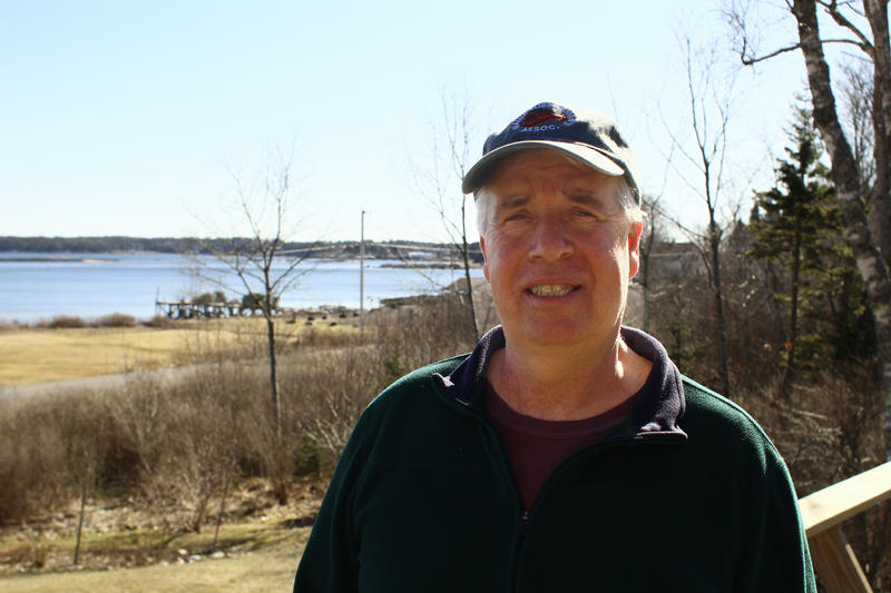 Retiring Maine Lobstermen's Association President Dave Cousens at his home in South Thomaston.