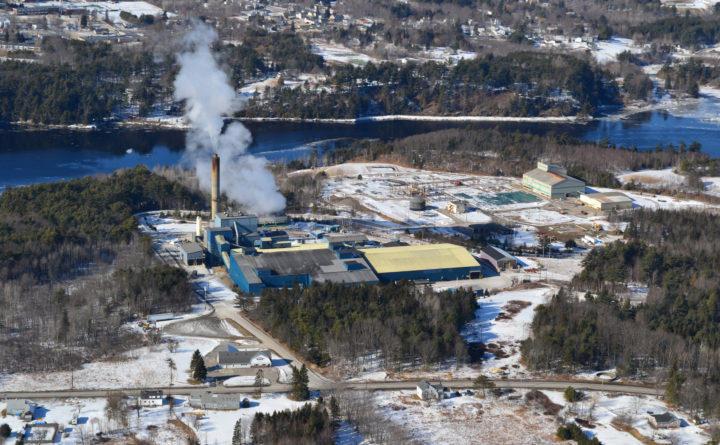 2012 aerial photo of the PERC plant in Orrington