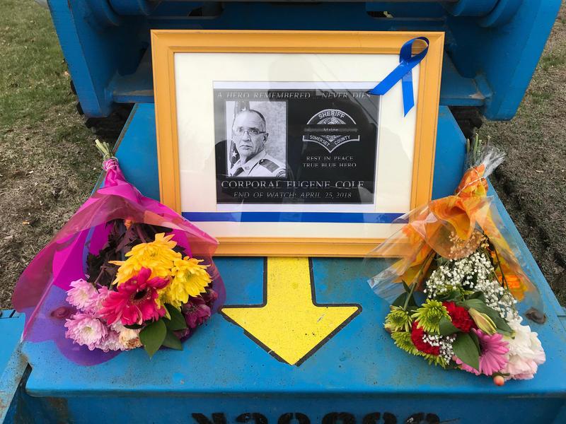 Memorial for the deputy in the middle of Norridgewock