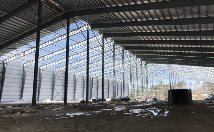 Construction of the $69 million Fiberight facility off Coldbrook Road has taken longer to finish because of winter storms, Maryland-based Fiberight CEO Craig Stuart-Paul said Thursday