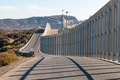 The International Border Wall Between San Diego, California And Tijuana, Mexico
