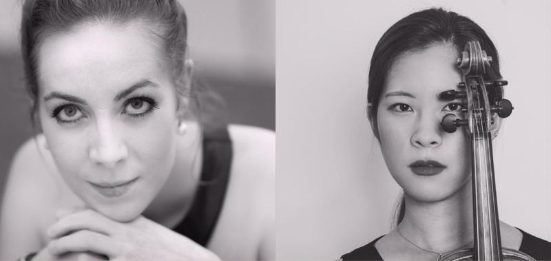 Heifitz Institute Alumnae cellist, Noemie Raymond-Friset and violinist, June Lee