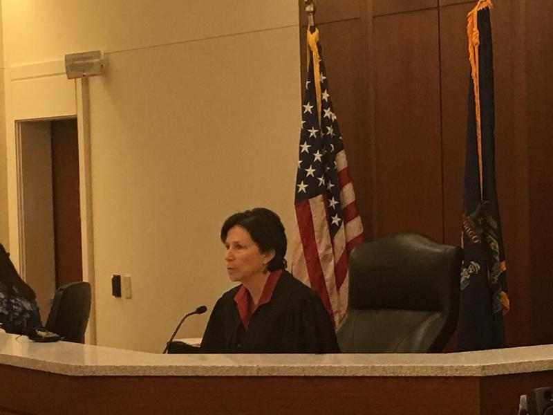 Judge Michaela Murphy makes her recommendation at the Kennebec Superior Court facility in Augusta