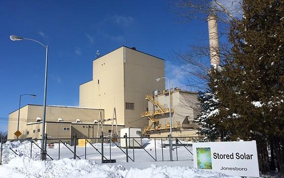 The Stored Solar plant in Jonesboro.