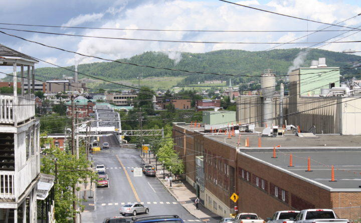 The Twin Rivers Paper Co. mill sits in the middle of downtown Madawaska.