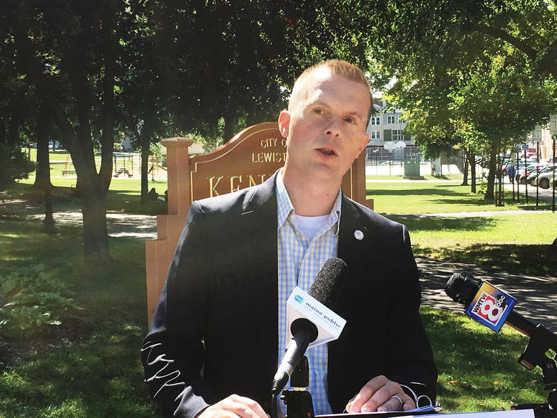 Rep. Jared Golden, Lewiston Democrat, announces his run for the nomination in Maine's 2nd District congressional race.