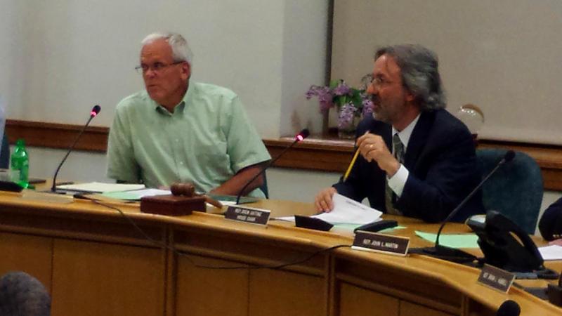 The Legislature's Appropriations Committee Co-chairs, Sen. Jim Hamper, left, and Rep. Drew Gattine.