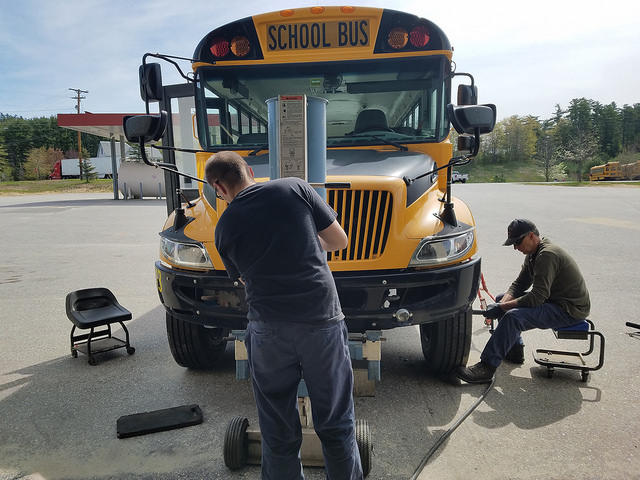 Mechanics Tyler and Rob Sawyer Outfit Buses With New Tires After The Vehicles Were Vandalized