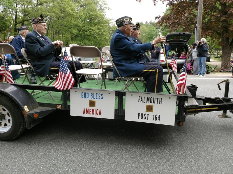 Veterans from the Falmouth American Legion Post 164 in the Memorial Day Parade