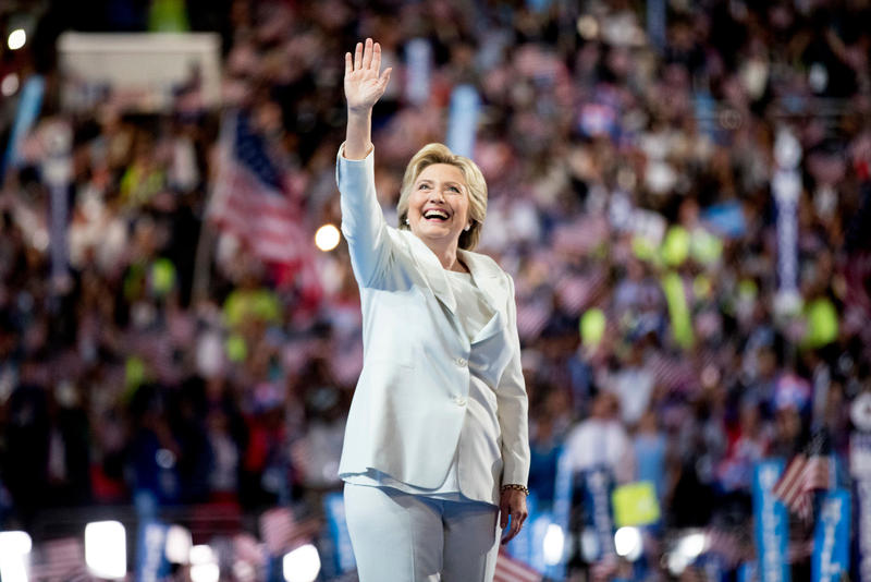 Hillary Clinton at the Democratic National Convention in Philadelphia, Thursday, July 28, 2016.