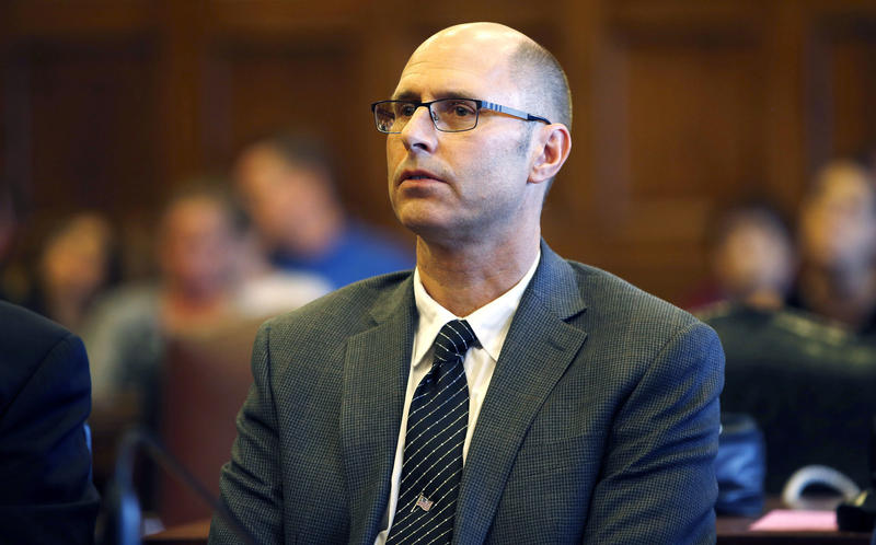 In this Oct. 21, 2016, file photo, Gregory Nisbet listens to Justice Thomas Warren during his trial in Portland, Maine.