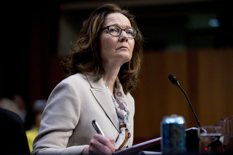 Gina Haspel, President Donald Trump's pick to lead the Central Intelligence Agency, pauses while testifying at her confirmation hearing before the Senate Intelligence Committee, on Capitol Hill, Wednesday, May 9, 2018, in Washington.