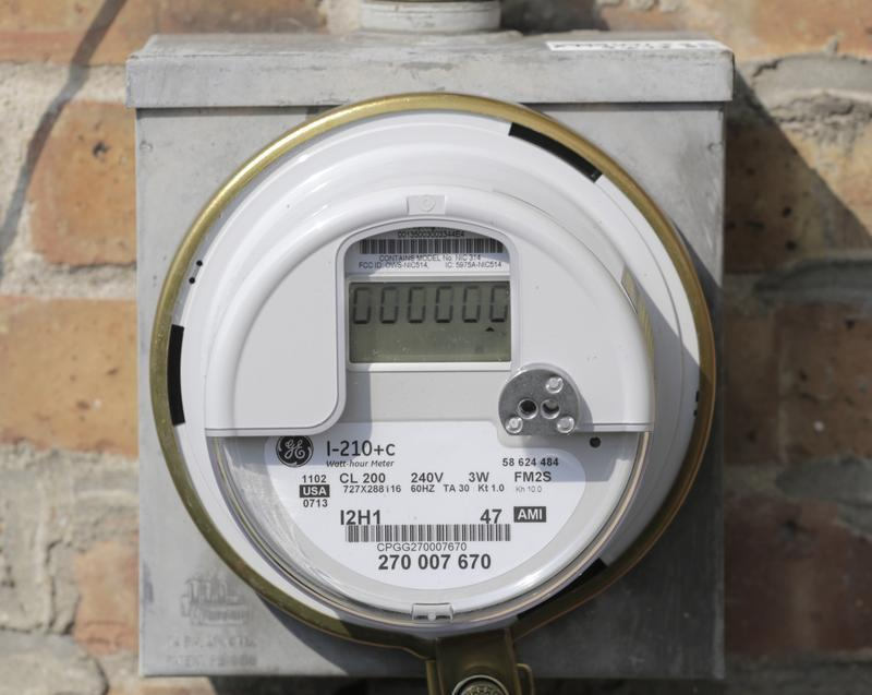 A smart meter in Illinois in 2013.
