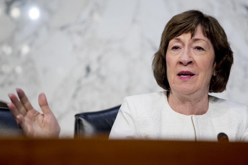 Collins is is considered a key swing vote in what will undoubtedly be fierce battle to replace retiring Supreme Court Judge Anthony Kennedy.
