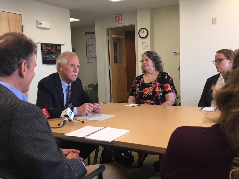Senator King at Monday's round table discussion