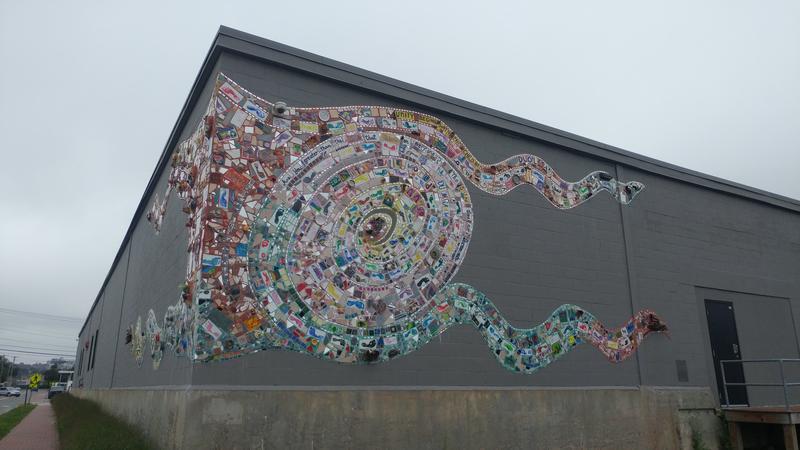 The mosaic at Portland Bayside