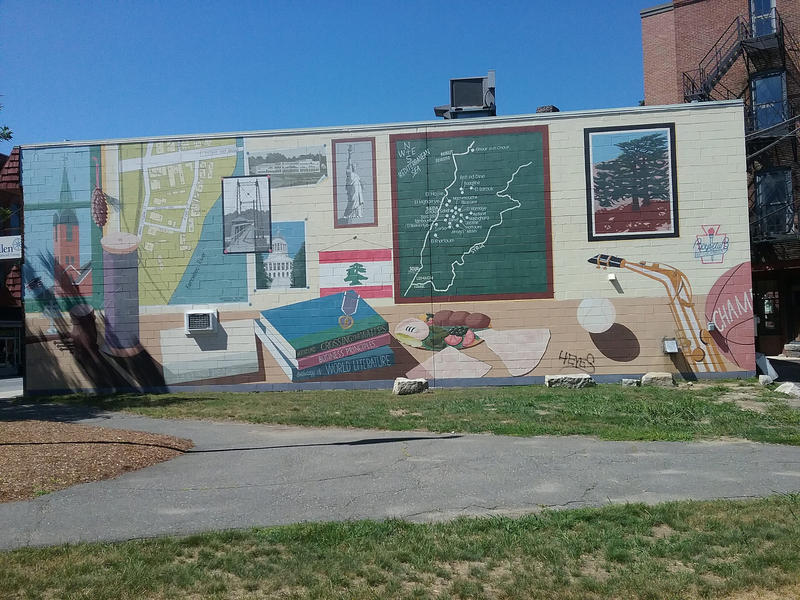 The Lebanese Heritage Mural in Waterville, Me