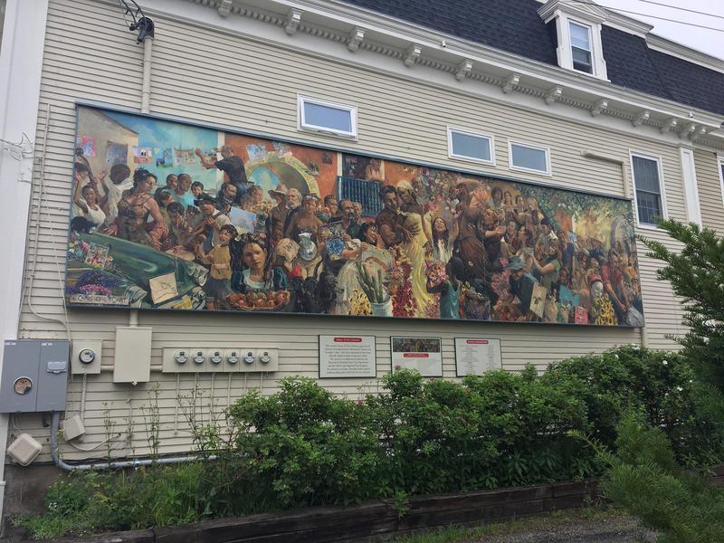A mural on Pleasant St in Brunswick