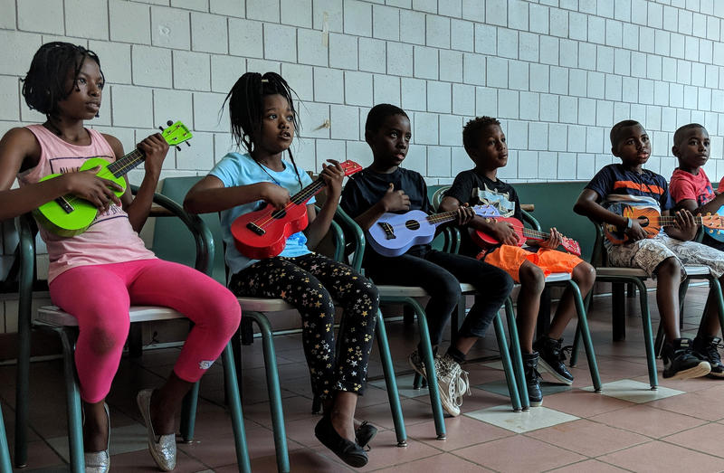 The kids enrolled in the summer school mainly come from Angola and the Republic of Congo.