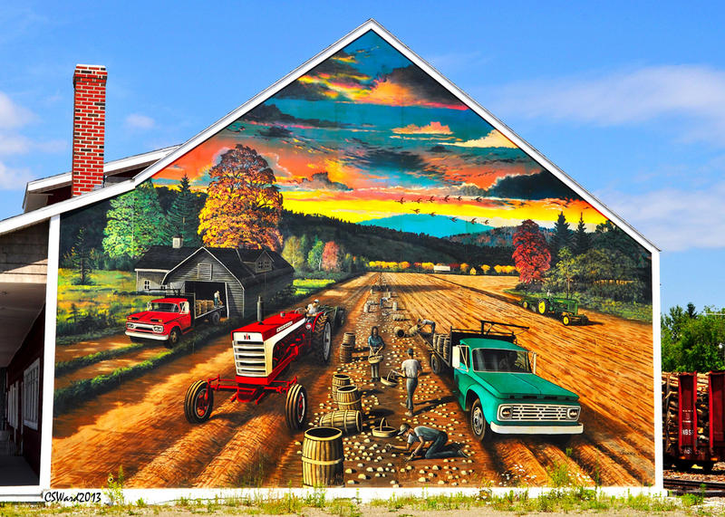 A Mural Dedicated to Farmers from Fort Kent, Maine Artist: Caleb Ward