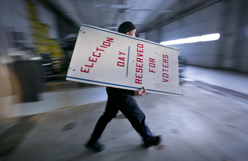Election day 2014 in Camden, Maine
