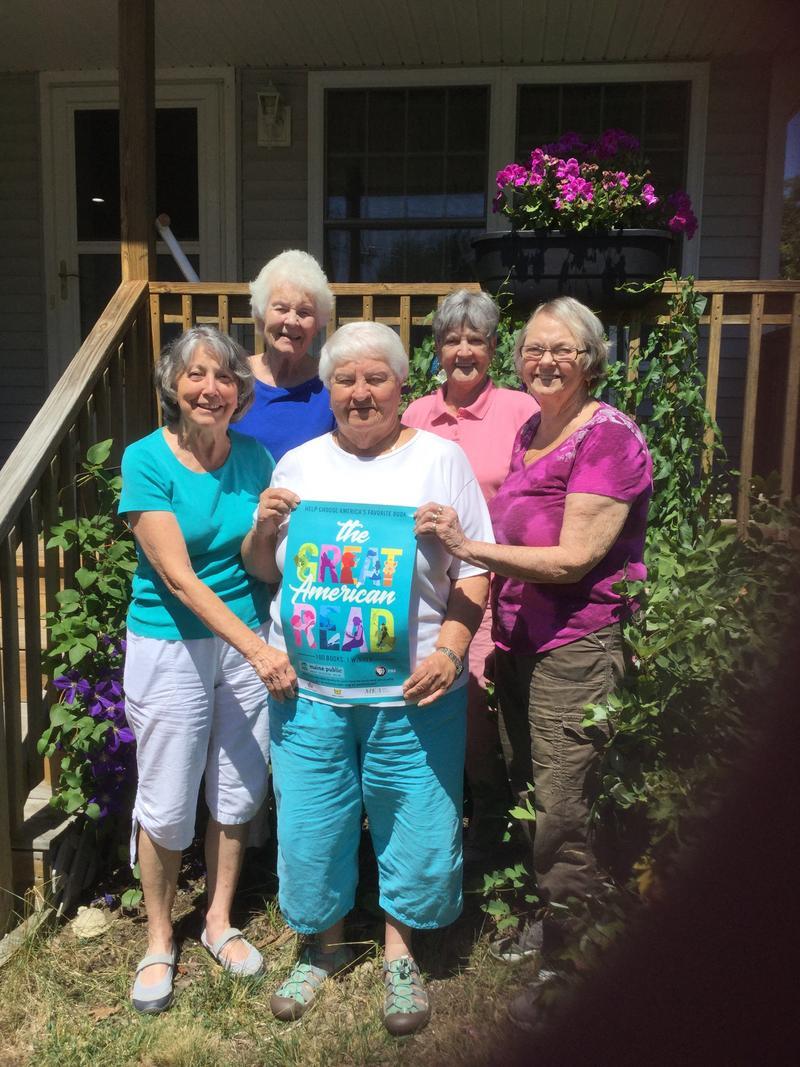 Fran Halamandaris and her fellow members of the Saco Book Club enjoyed their book selection!