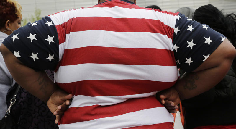 This May 8, 2014 file photo shows an overweight man in New York.