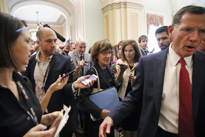 Senator Collins, following a break, on September 26, 2018