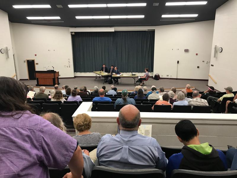 A hearing on New England Clean Energy Connect in western Maine on Friday.