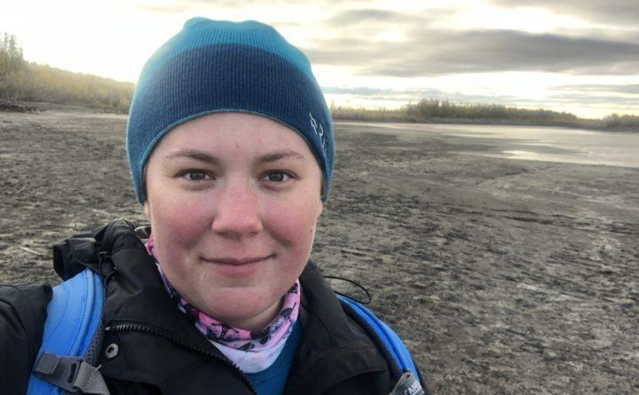 UMaine climate science professor Jacquelyn Gill pictured on site in Siberia, during the filming of a documentary about ice age fossils.