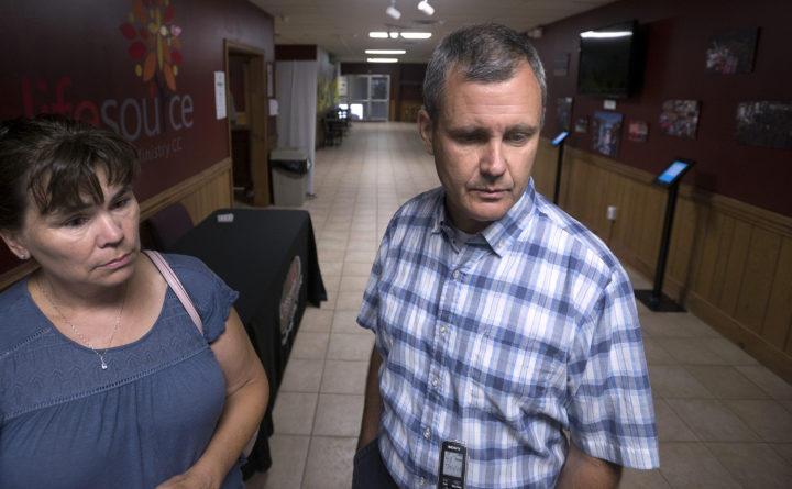Judith and Alan Gillis of Orrington, parents of Bangor Christian Schools junior Isabella Gillis at the school Aug. 28, 2018.