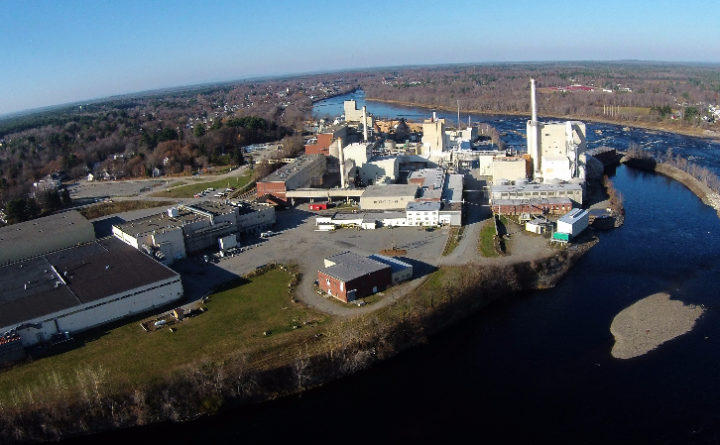 The former Expera Old Town pulp mill taken on Nov. 10, 2015.