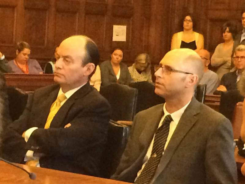 Gregory Nisbet, right, in court Oct. 21, 2016, with attorney Matthew Nichols.