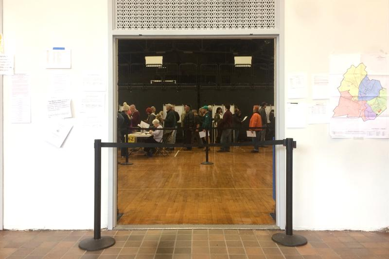 Lines remain at voting places mid morning. The warden at the expo polling location says before typical work hours the line stretched down the block.